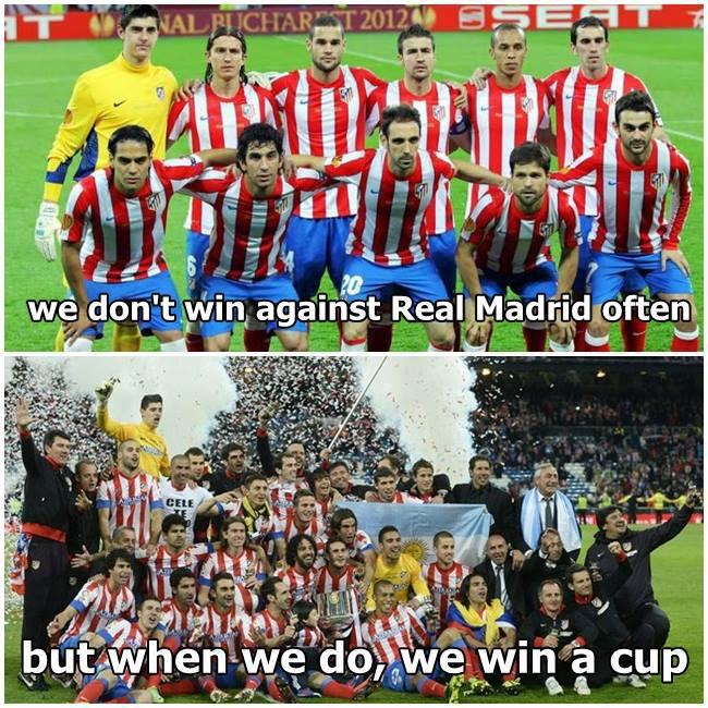 Atletico rất ít khi thắng Real, nhưng khi đã thắng là sẽ giành danh hiệu