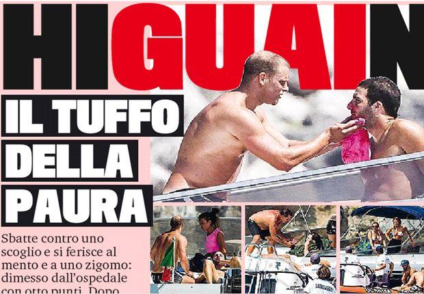 Chủ tịch của Napoli yêu cầu bệnh Campania & Capri bồi thường 100 triệu euro vì Higuain