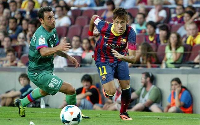 Neymar chưa ghi được bàn thắng trong trận ra mắt La Liga