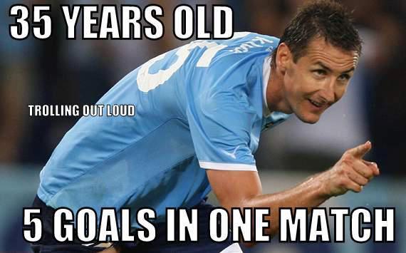 Klose vẫn là một chân sút đẳng cấp