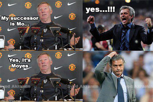 "Mourinho bị Alex Ferguson cho ăn ""dưa bở"""