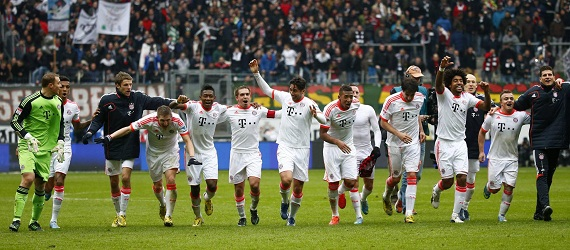 Bayern Munich chính thức đăng quang tại Bundesliga 2012/2013