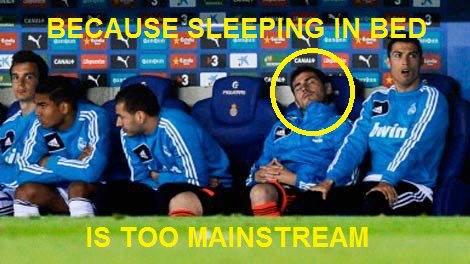Giấc ngủ ngon lành của Casillas