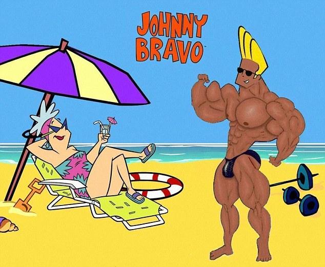 Cơ thể CR7 được cho là giống một nhân vật hoạt hình Johnny Bravo
