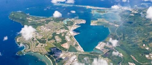 Một phần căn cứ Guam nhìn từ trên cao