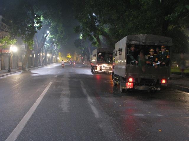 An ninh được thắt chặt trên các tuyến phố - nơi linh cữu Đại tướng sẽ đi qua