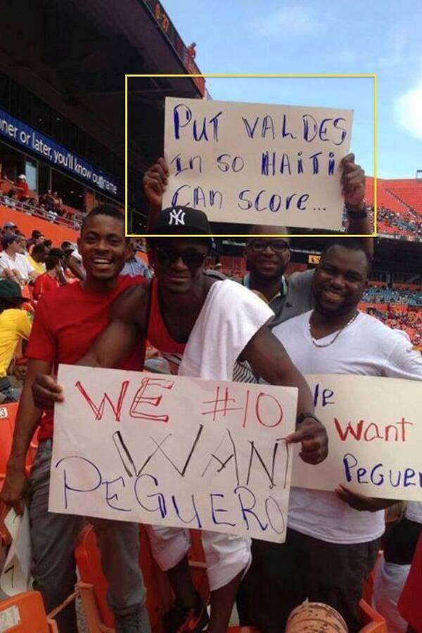 CĐV Haiti cũng cố troll Valdes...