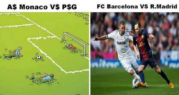 Cách chơi bóng của PSG và Monaco là bơi trong tiền