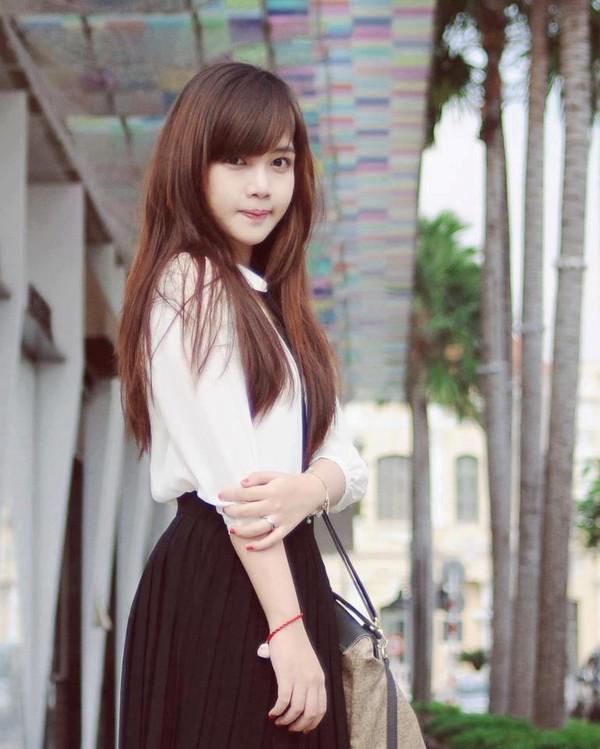 Cô sinh viên Nguyễn Thị Hà Giang của Học viện báo chí và tuyên truyền