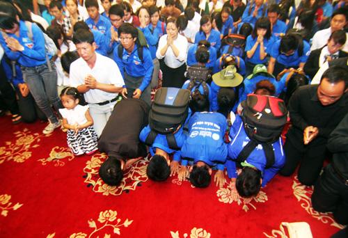 Hình ảnh tự hào của thanh niên tình nguyện trong lễ Quốc tang