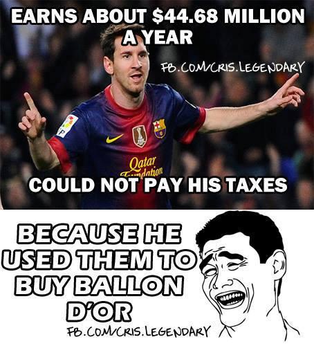 Phải chăng Messi dùng tiền trốn thuế đi mua QBV?
