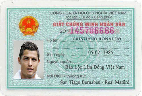 Ronaldo đã nhập quốc tịch Việt Nam
