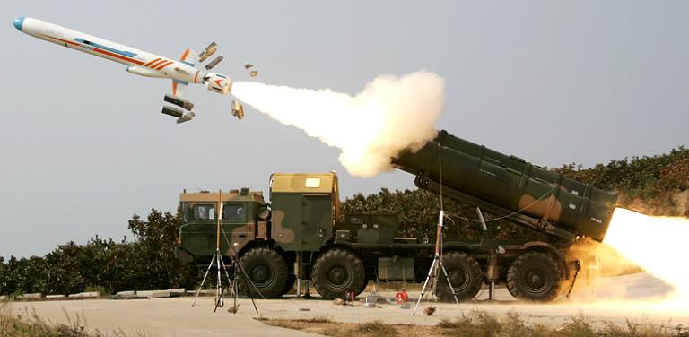 Tên lửa YJ-62 được phóng từ bệ phóng trên xe