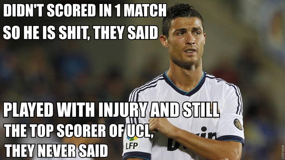Hãy tôn trọng Cris Ronaldo