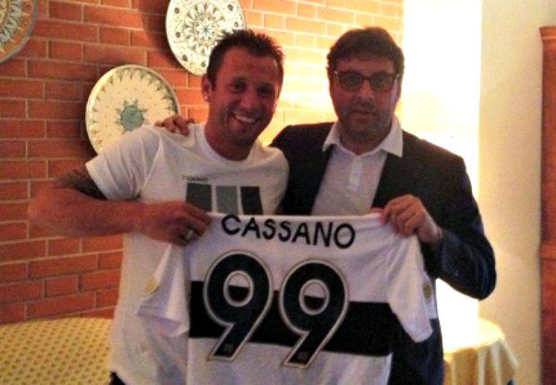 Cassano rời Inter tới Parma