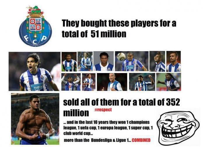 Đội nào bằng được Porto