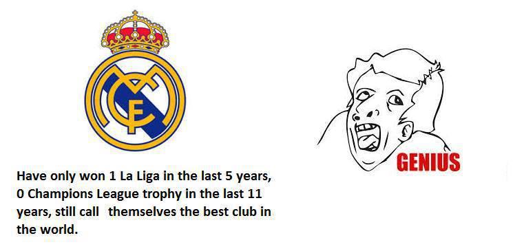 1 La Liga trong 5 năm, 0 Champion League trong 11 năm, đó là đội bóng xuất sắc nhất thế giới?