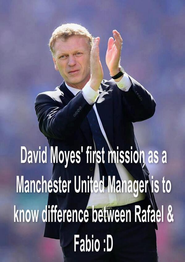 Nhiệm vụ đầu tiên của Moyes chính là phân biệt Rafael và Fabio