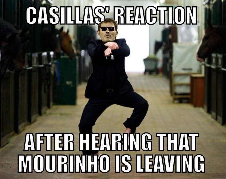 Casillas nhảy Gangnam Style ăn mừng Mourinho bị đuổi