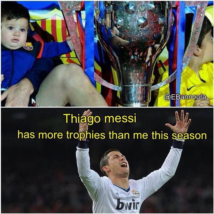 Con trai Messi còn có chức vô địch còn Ronaldo thì...