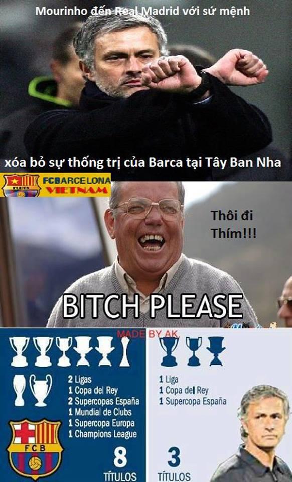 Đấy, Mourinho đã phá bỏ sự thống trị của Barca như thế đó