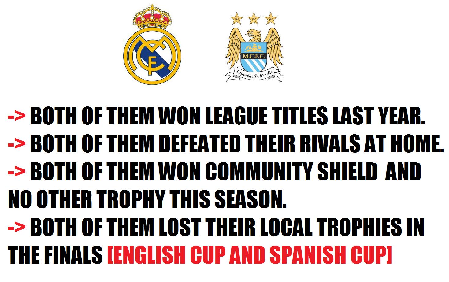 Họ cùng giành chức vô địch mùa trước, cùng giành siêu cúp đầu mùa, cùng giành quyền vào chơi trận chung kết cúp QG và cùng... trắng tay