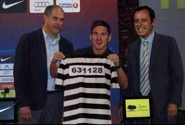 Áo đấu mới của Messi sau vụ trốn thuế?