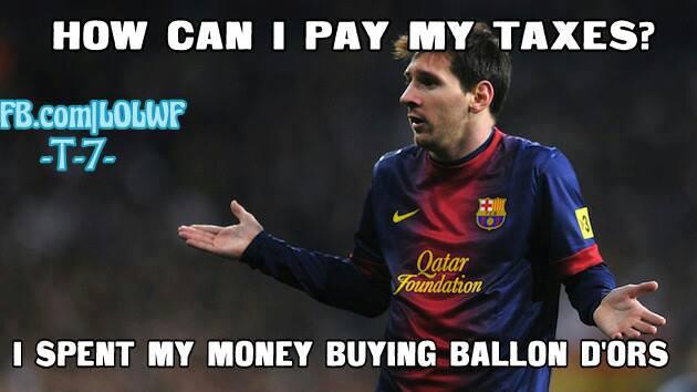 Làm sao Messi có thể trả đủ thuế khi đã dốc hết ra để mua Quả bóng vàng?