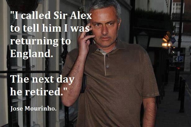 1 ngày sau khi Mourinho thông báo sẽ trở lại Anh, Sir Alex đã nghỉ hưu?