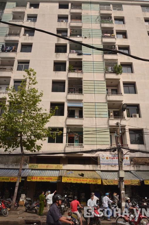 Chung cư nơi cháu bé 7 tuổi bị rơi từ tầng 7 xuống đất tử vong