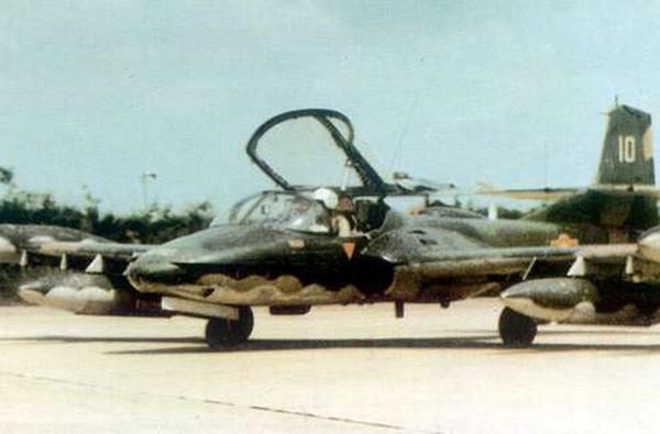 Máy bay cường kích hạng nhẹ A-37 (hãng Cessna Mỹ sản xuất) trong biên chế Không quân Nhân dân Việt Nam.
