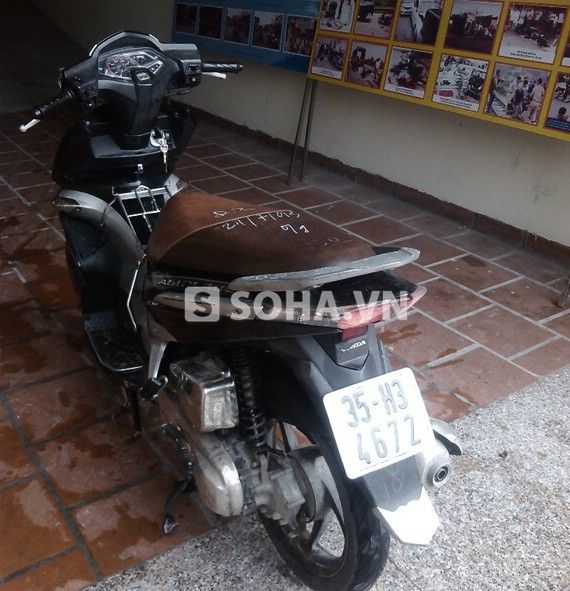 Chiếc xe máy Air Blade này vừa bị mất trộm lúc 2h sáng (19/7) ở Ninh Bình.