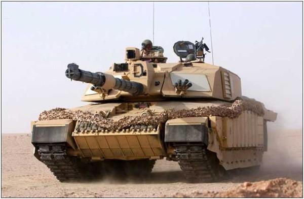 Xe tăng challenger 2 được trang bị giáp Chobham