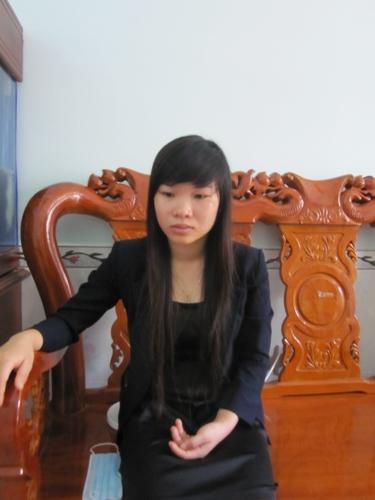 Chị Phạm Thị Thu - được cho người trực tiếp nhận áo phao từ a Hiệp trong vụ chìm tàu khiến 9 người thiệt mạng tại Cần Giờ