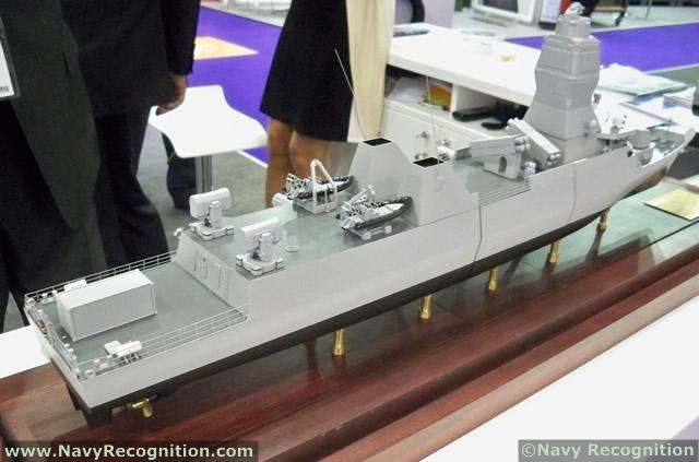 Mô hình tàu Compact SIGMA được giới thiệu tại triển lãm DSEI 2013.