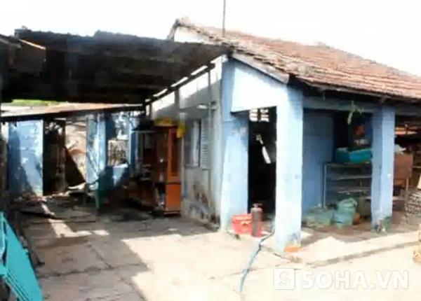 Hiện trường ngôi nhà bị cháy