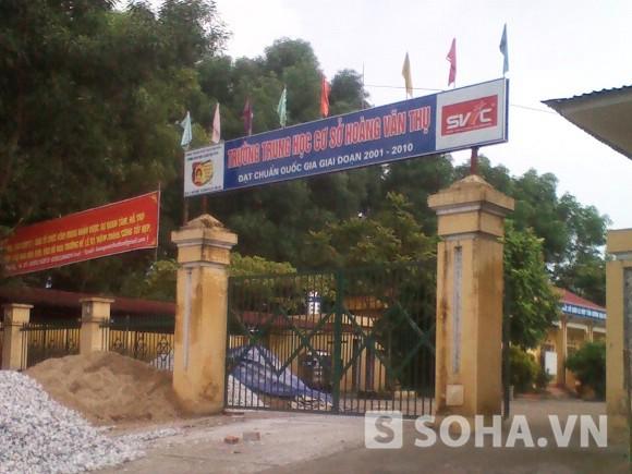 Trường THCS Hoàng Văn Thụ, nơi ông Hùng đang công tác