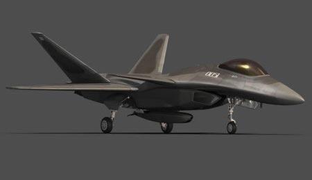 Phác thảo đồ họa tiêm kích J-25