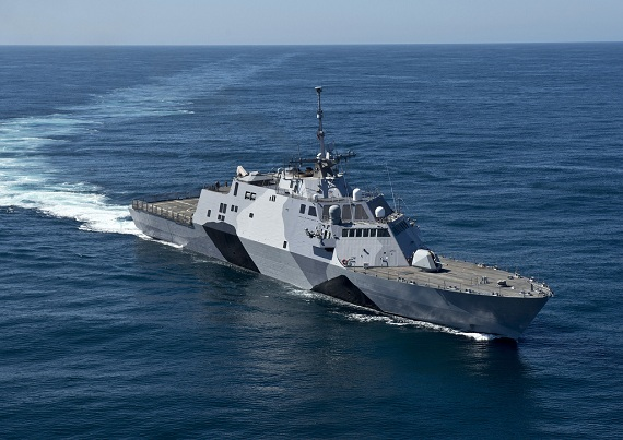 Siêu hạm tuần duyên USS Freedom của Hải quân Mỹ.