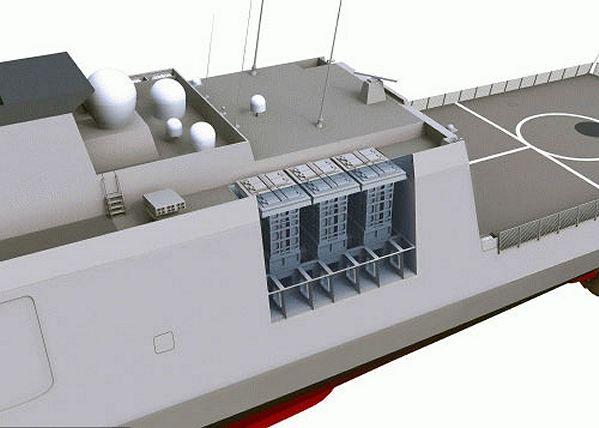 Module VLS cho hệ thống tên lửa MICA trên tàu chiến SIGMA của Hà Lan