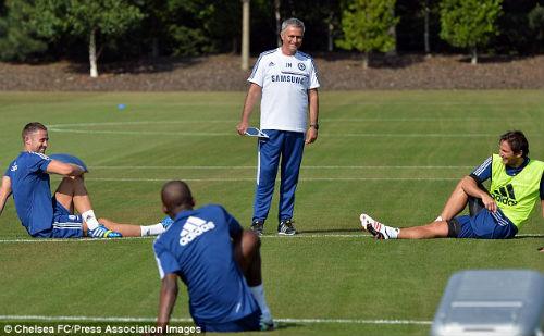 HLV Mourinho cũng khai thác tiện ích của công nghệ cao phục vụ công tác huấn luyện