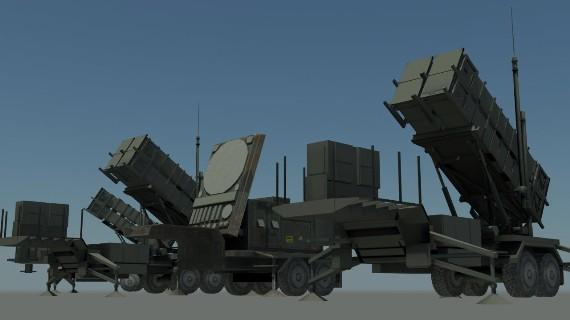 Hệ thống tên lửa phòng không Patriot PAC2.