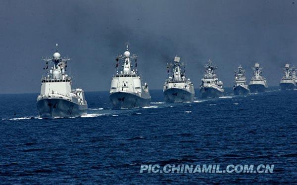 Lực lượng tàu khu trục của hạm đội Nam Hải ngày nay.