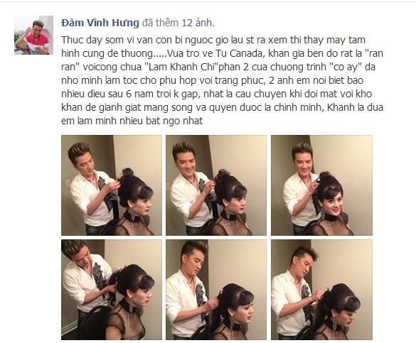 Mr.Đàm làm tóc cho Lâm Chí Khanh ở Canada sau 6 năm không gặp