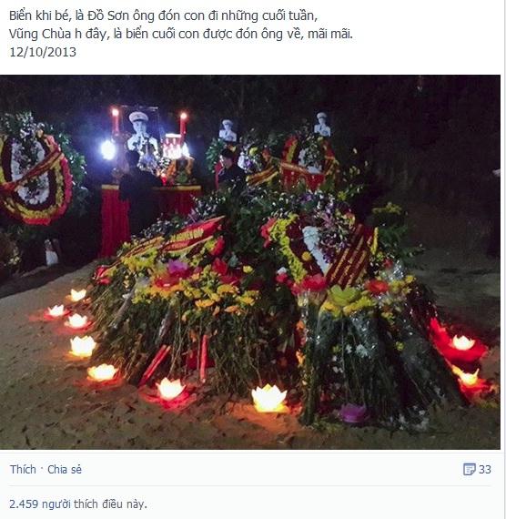 Những lời tâm tình xúc động của Võ Thành Trung - cháu nội Đại tướng ngay trong đêm đầu tiên Đại tướng về với đất Mẹ