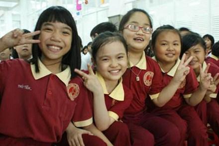 Học sinh Trường tiểu học dân lập quốc tế Á Châu