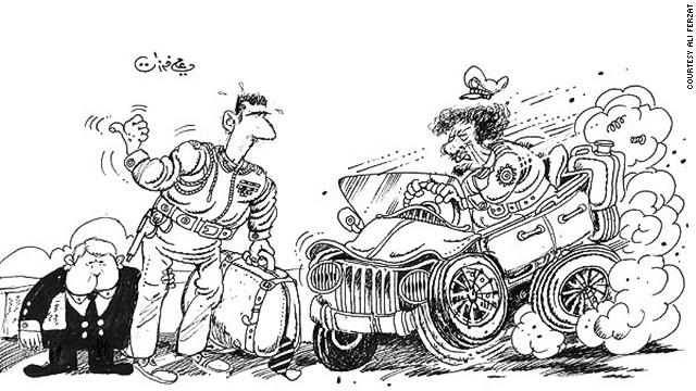 Bức tranh biếm họa đã khiến Ferzat suýt mất mạng.