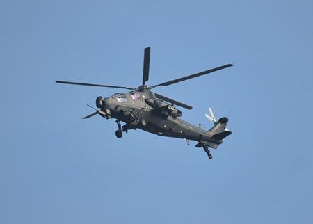 Máy bay trực thăng tấn công WZ-10 của Trung Quốc.