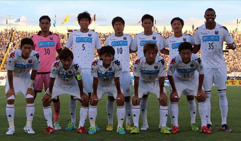 Đội hình ra sân đá chính của Sapporo, không có Công Vinh