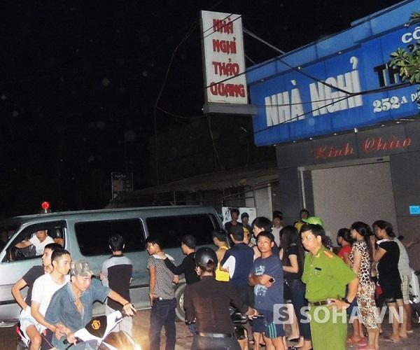 Nhà nghỉ Thảo Quang, nơi phát hiện nam thanh niên chết chưa rõ nguyên nhân.
